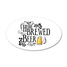 Home Brewed Beer Wall Decal