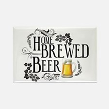 Home Brewed Beer Rectangle Magnet