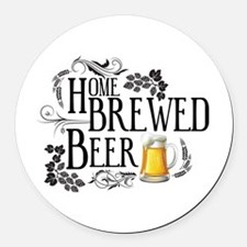 Home Brewed Beer Round Car Magnet