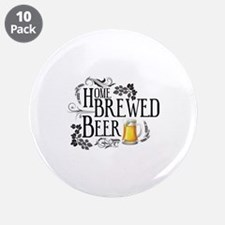 """Home Brewed Beer 3.5"""" Button (10 pack)"""