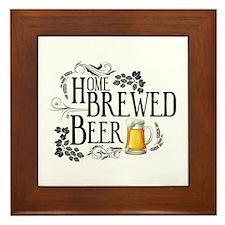 Home Brewed Beer Framed Tile