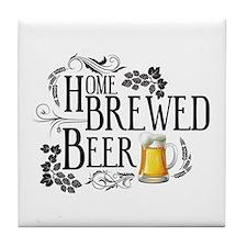 Home Brewed Beer Tile Coaster