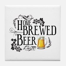 Home Brewed Beer Tile Coaster