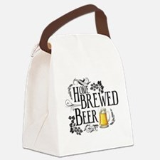 Home Brewed Beer Canvas Lunch Bag