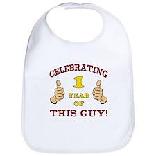 Funny 1st Birthday For Boys Bib