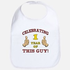Funny 1st Birthday For Boys Bib