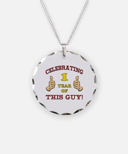 Funny 1st Birthday For Boys Necklace Circle Charm