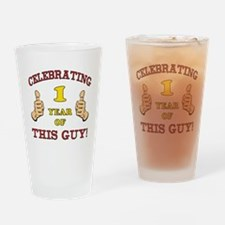Funny 1st Birthday For Boys Drinking Glass