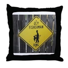 OLD FISHERMAN CROSSING Throw Pillow