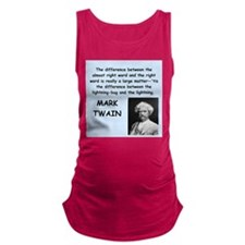 Mark Twain Quote Maternity Tank Top