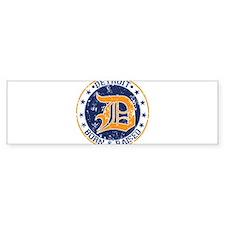 Detroit born and raised Bumper Bumper Sticker