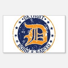 Detroit born and raised Decal