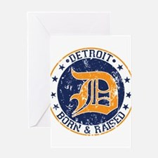 Detroit born and raised Greeting Card