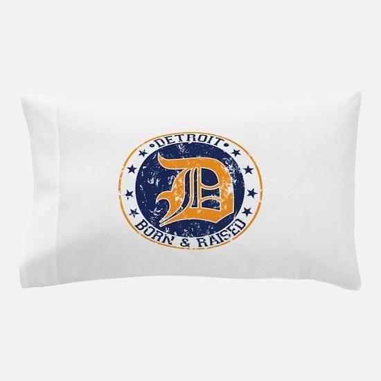 Detroit born and raised Pillow Case