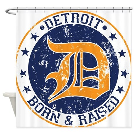 Detroit Born And Raised Shower Curtain