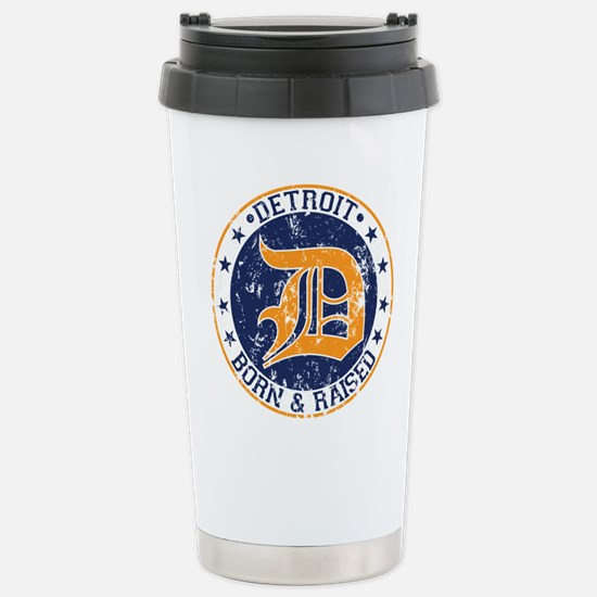 Detroit born and raised Travel Mug