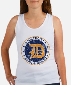 Detroit born and raised Tank Top