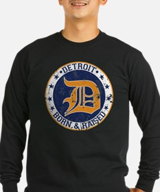 Detroit born and raised Long Sleeve T-Shirt