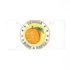 Georgia peach born raised Aluminum License Plate