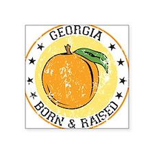 Georgia peach born raised Sticker