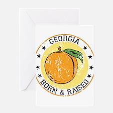 Georgia peach born raised Greeting Card