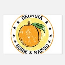 Georgia peach born raised Postcards (Package of 8)