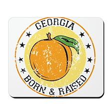 Georgia peach born raised Mousepad