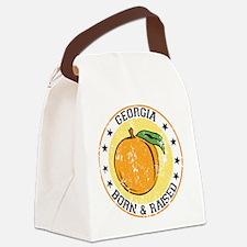 Georgia peach born raised Canvas Lunch Bag