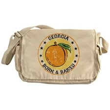 Georgia peach born raised Messenger Bag
