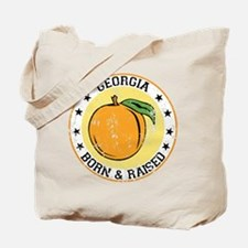 Georgia peach born raised Tote Bag