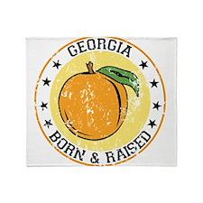 Georgia peach born raised Throw Blanket