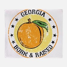 Georgia peach born raised Throw Blanket