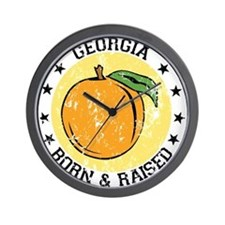 Georgia peach born raised Wall Clock