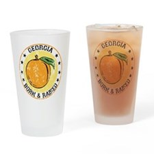 Georgia peach born raised Drinking Glass