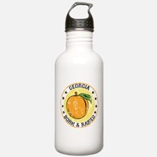 Georgia peach born raised Water Bottle