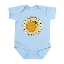 Georgia peach born raised Body Suit