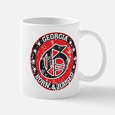 Georgia born raised dark Mug