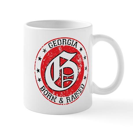 Georgia born raised light Mug