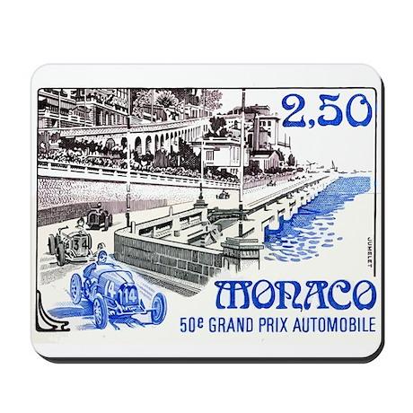 1992 Monaco 50th Grand Prix Postage Stamp Mousepad
