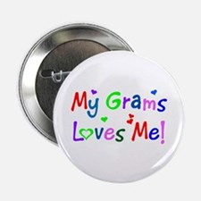 My Grams Loves Me (des. #1) Button