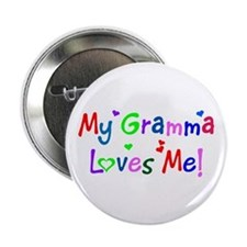 My Gramma Loves Me (des. #1) Button