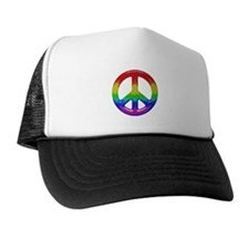 TILED RAINBOW PEACE SIGN Trucker Hat