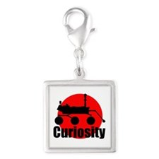 Curiosity Silver Square Charm