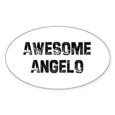 Awesome Angelo Oval Decal
