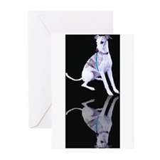 Whippet Reflection Greeting Cards (Pk of 20)
