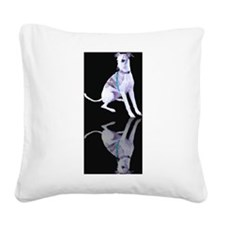 Whippet Reflection Square Canvas Pillow