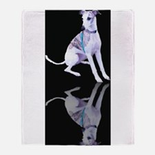 Whippet Reflection Throw Blanket