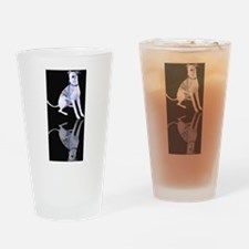 Whippet Reflection Drinking Glass