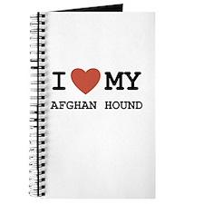 I Love My Afghan Hound Journal
