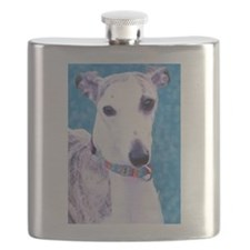 Whippet Head Flask